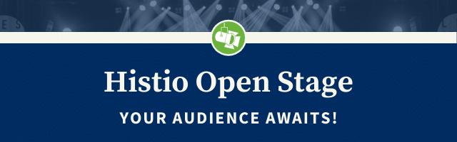 Histio Open Stage Website Header