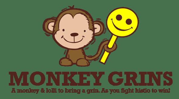 monkey grins